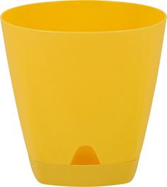 Горшок для цветов INGREEN AMSTERDAM 16,5х17см, 2,5 л с подставкой цвета спелая груша