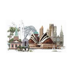 Набор для вышивания Gouverneur Сидней, лён, 79х50 см, 480