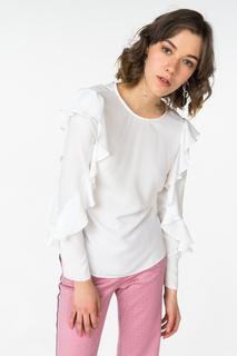Блуза женская adL 11531846000 белая 44 RU