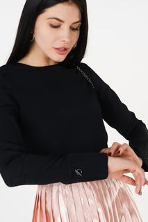 Блуза женская adL 11532153001 черная 42 RU