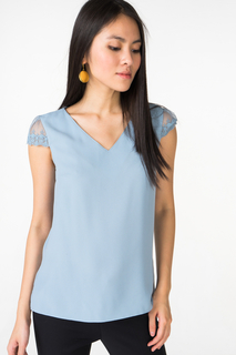 Блуза женская adL 11529625003 голубая 40 RU