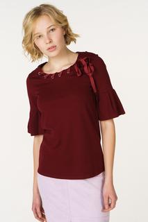 Блуза женская adL 11533232000 бордовая 42 RU