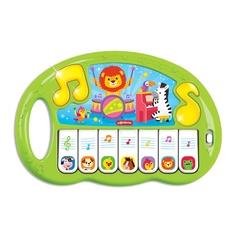 Пианино игрушечное Shantou Волшебные нотки, цвет зеленый, 24*4*20 см