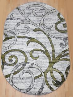 Ковер LARA 4206R овал серый зеленый 1,5х3 Sofia Rugs