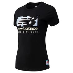 Футболка женская New Balance WT11507-BK черная XS