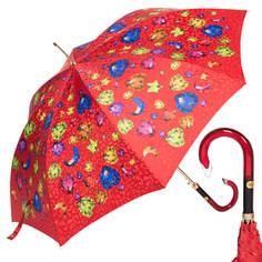 Зонт-трость женский полуавтоматический Baldinini 17-LA красный