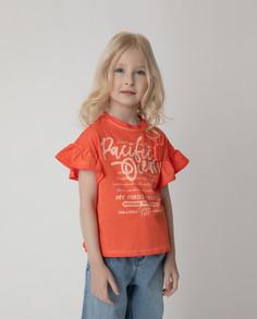 Футболка Gulliver для девочек цв. оранжевый р-р. 110
