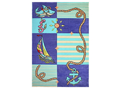 Ковер детский Kamalak tekstil фиолетовый/голубой 120х180 арт. УКД-1008-06