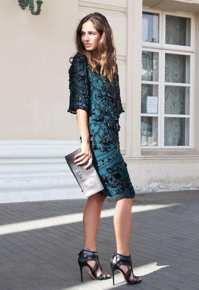 Цельнокройное платье с отделкой бисером ASOS BLACK