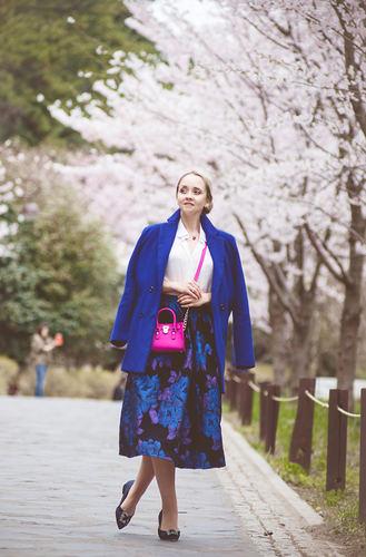 Sakura: floral skirt