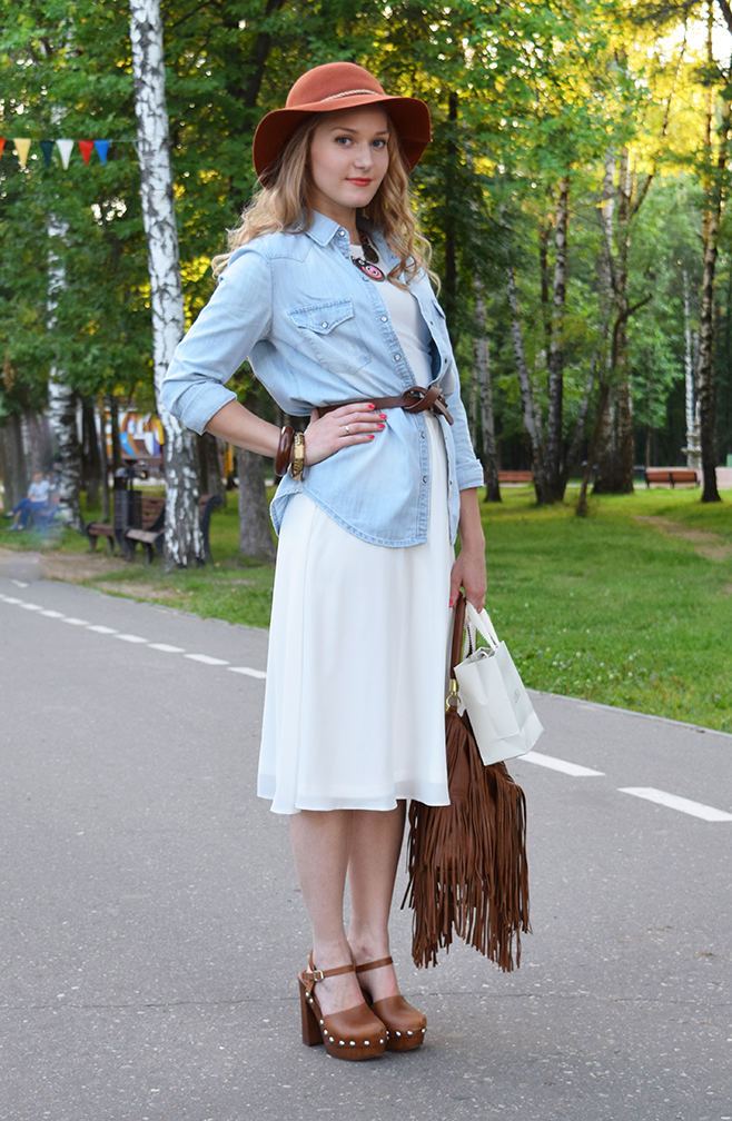 Chiffon and denim