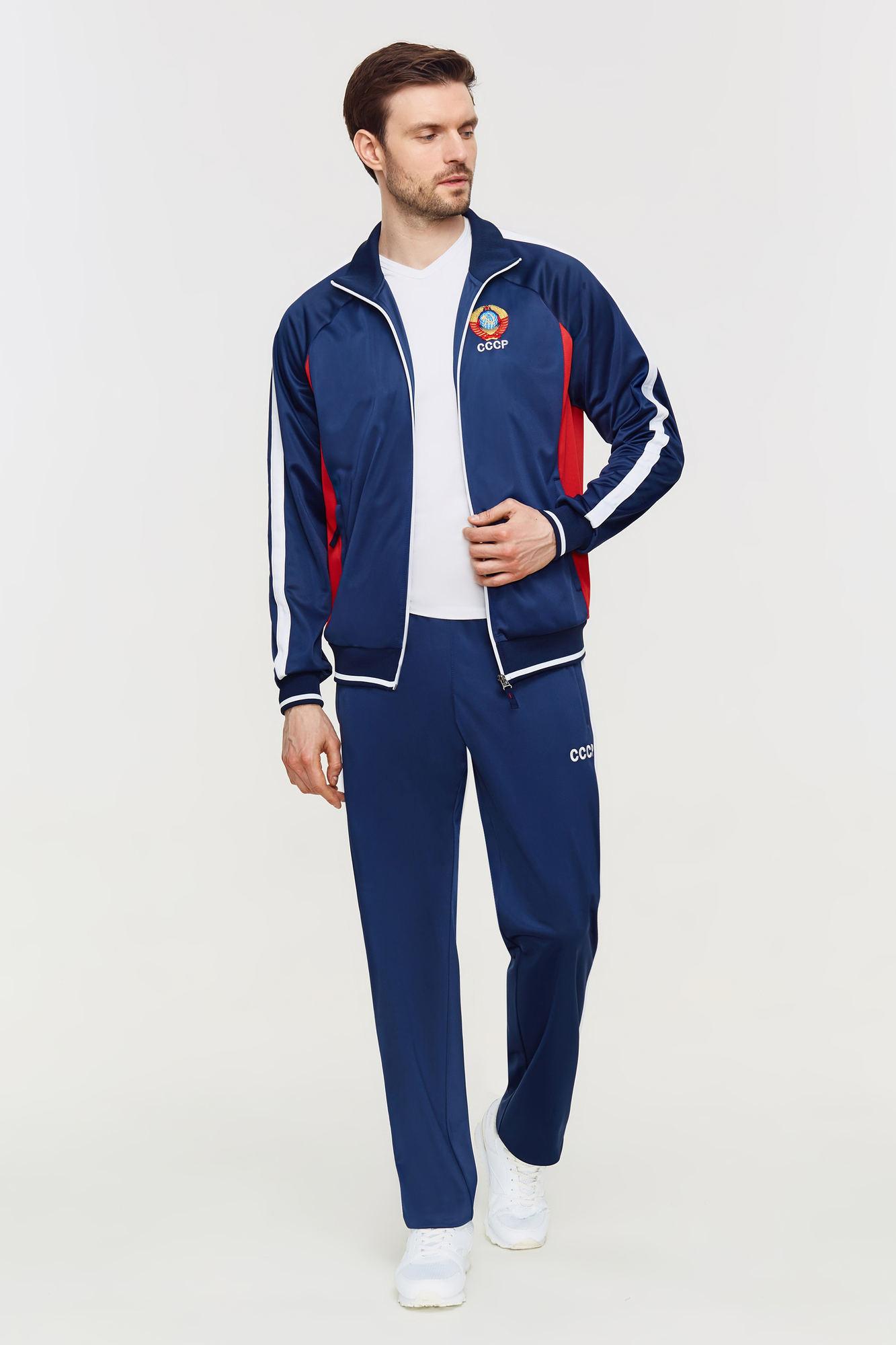 Мужской спортивный костюм СССР синий